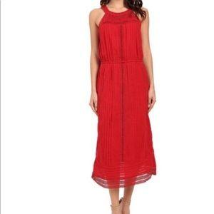 Joie Dresses - Joie Halter Eyelet Lace Red Midi Dress 💃🏼